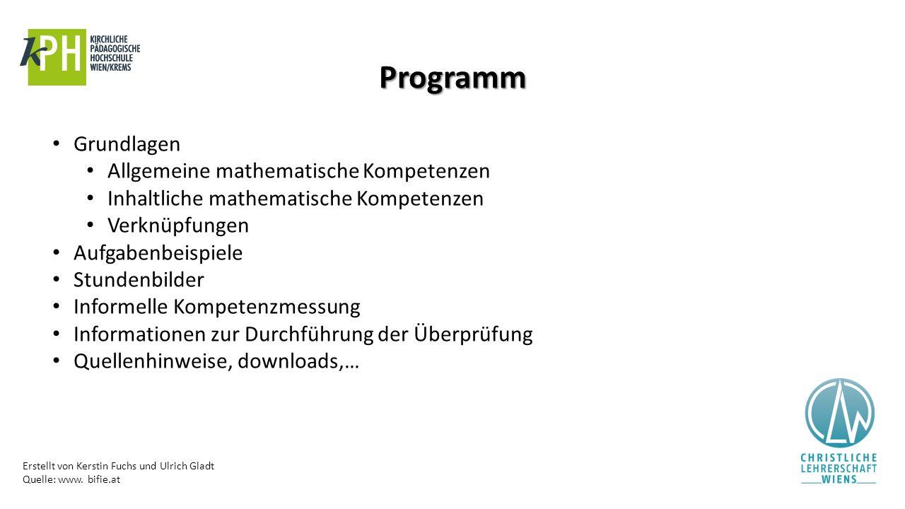 Programm Grundlagen Allgemeine mathematische Kompetenzen