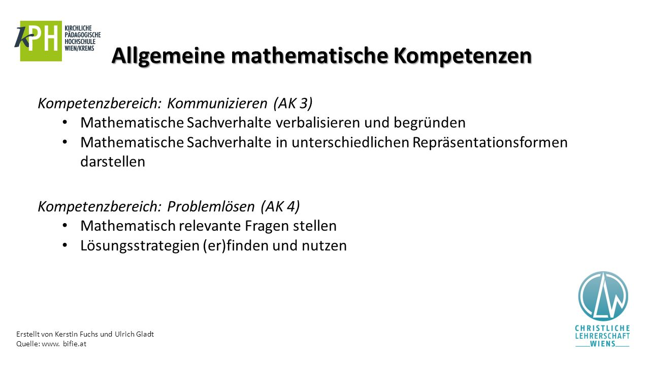 Allgemeine mathematische Kompetenzen