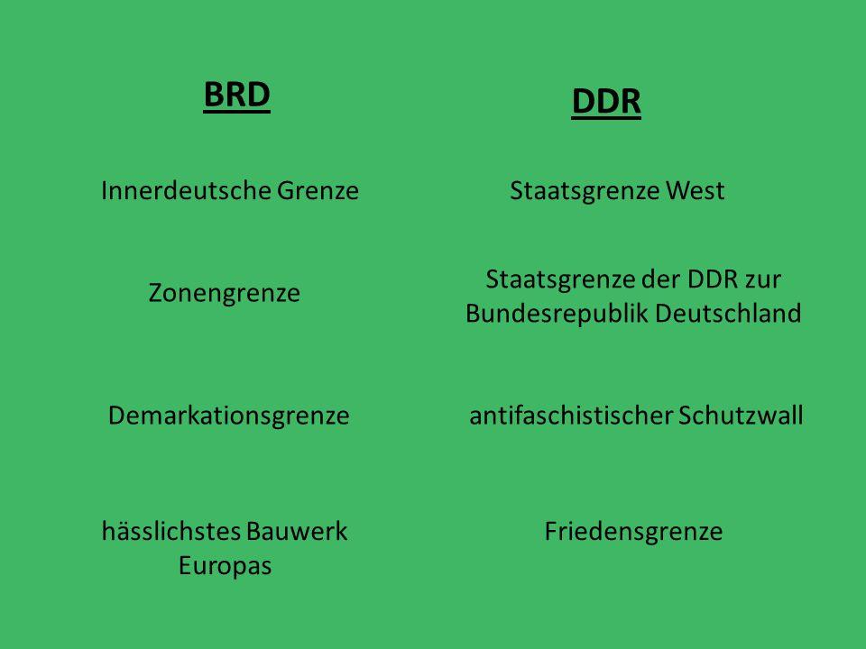 BRD DDR Innerdeutsche Grenze Staatsgrenze West