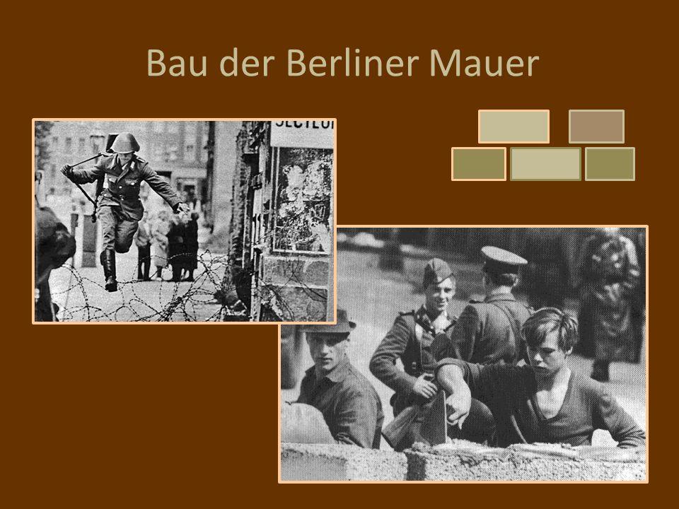 Bau der Berliner Mauer