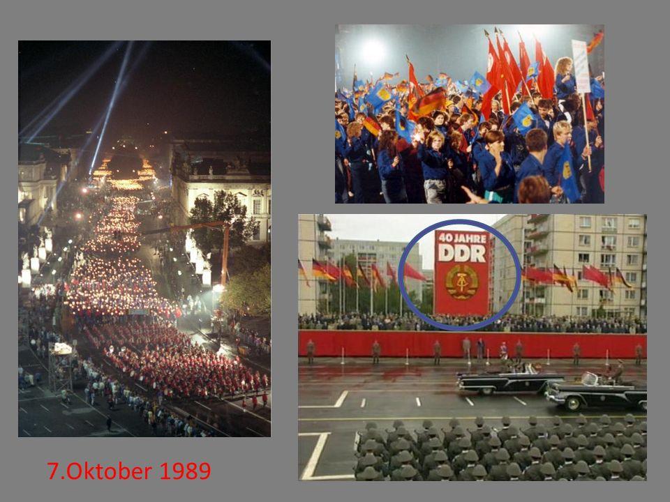 Am 7. Oktober feierte die DDR ihren 40. Jahrestag