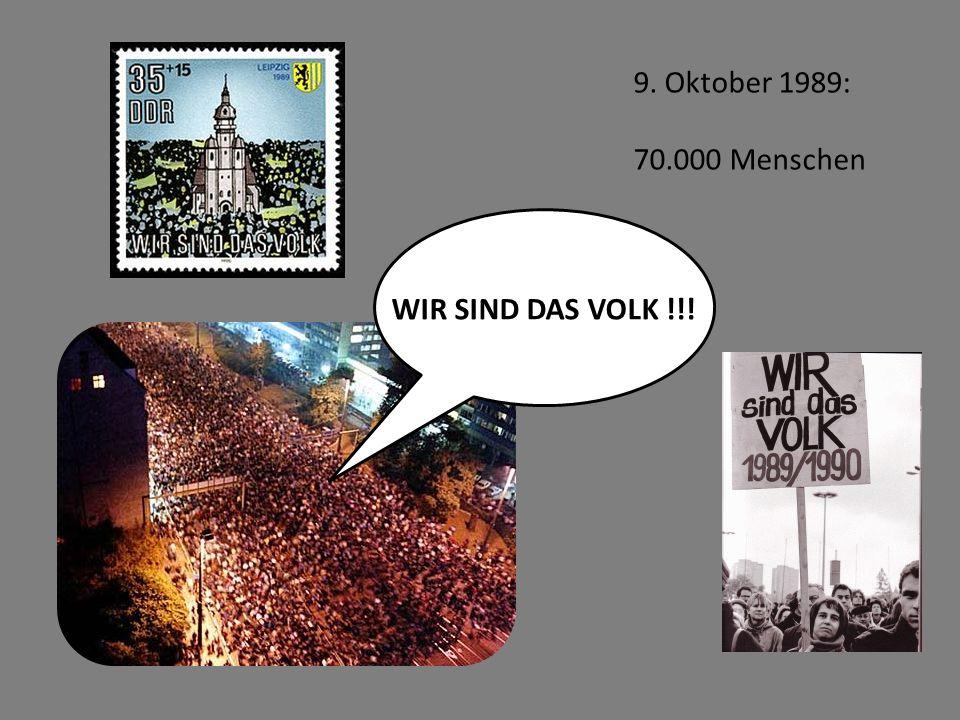 9. Oktober 1989: 70.000 Menschen WIR SIND DAS VOLK !!!