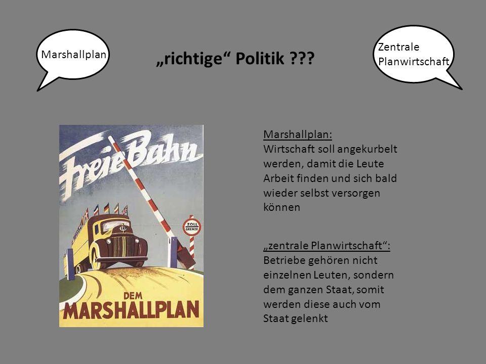 """""""richtige Politik Zentrale Planwirtschaft Marshallplan"""