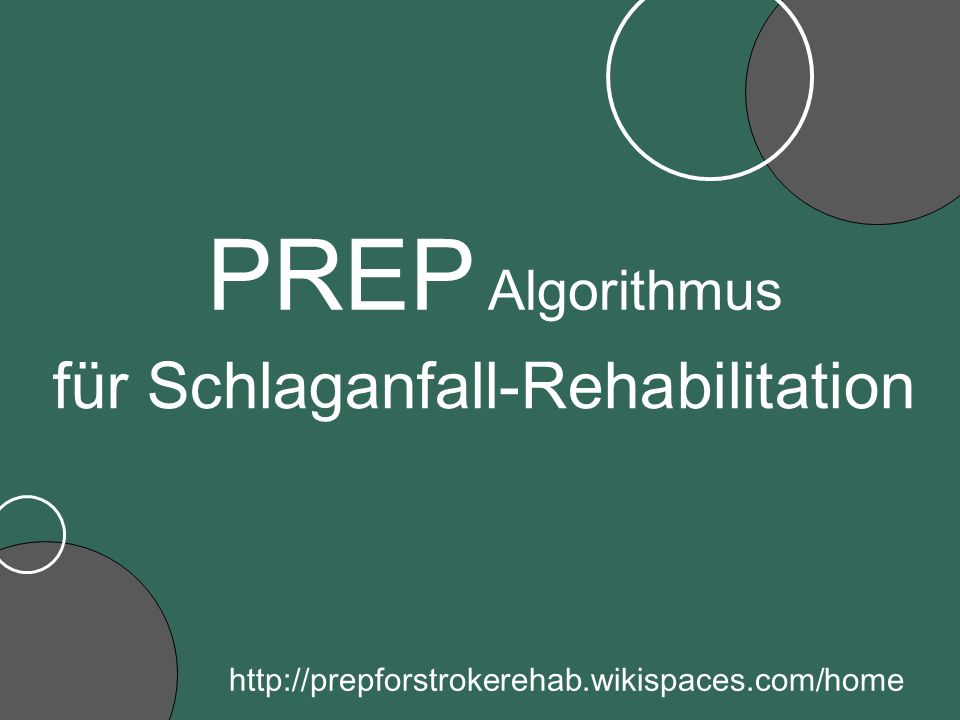 für Schlaganfall-Rehabilitation