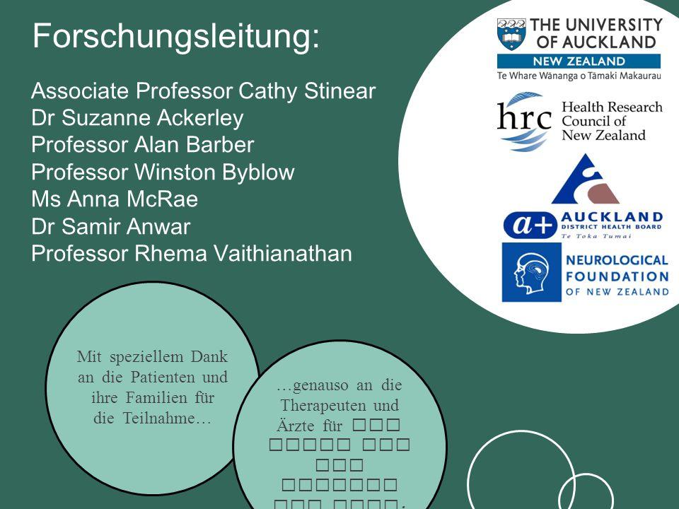 Forschungsleitung: Associate Professor Cathy Stinear