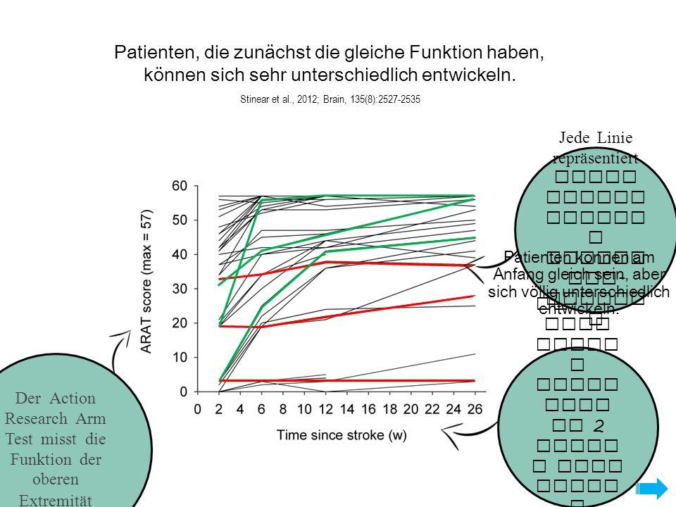 Patienten, die zunächst die gleiche Funktion haben, können sich sehr unterschiedlich entwickeln.