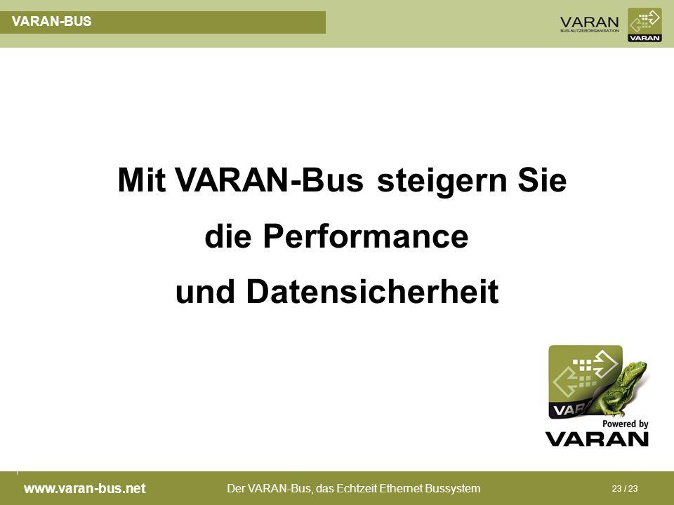 Mit VARAN-Bus steigern Sie