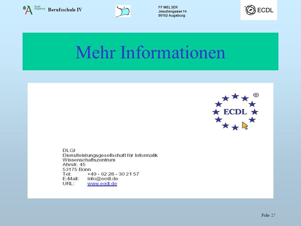 Mehr Informationen