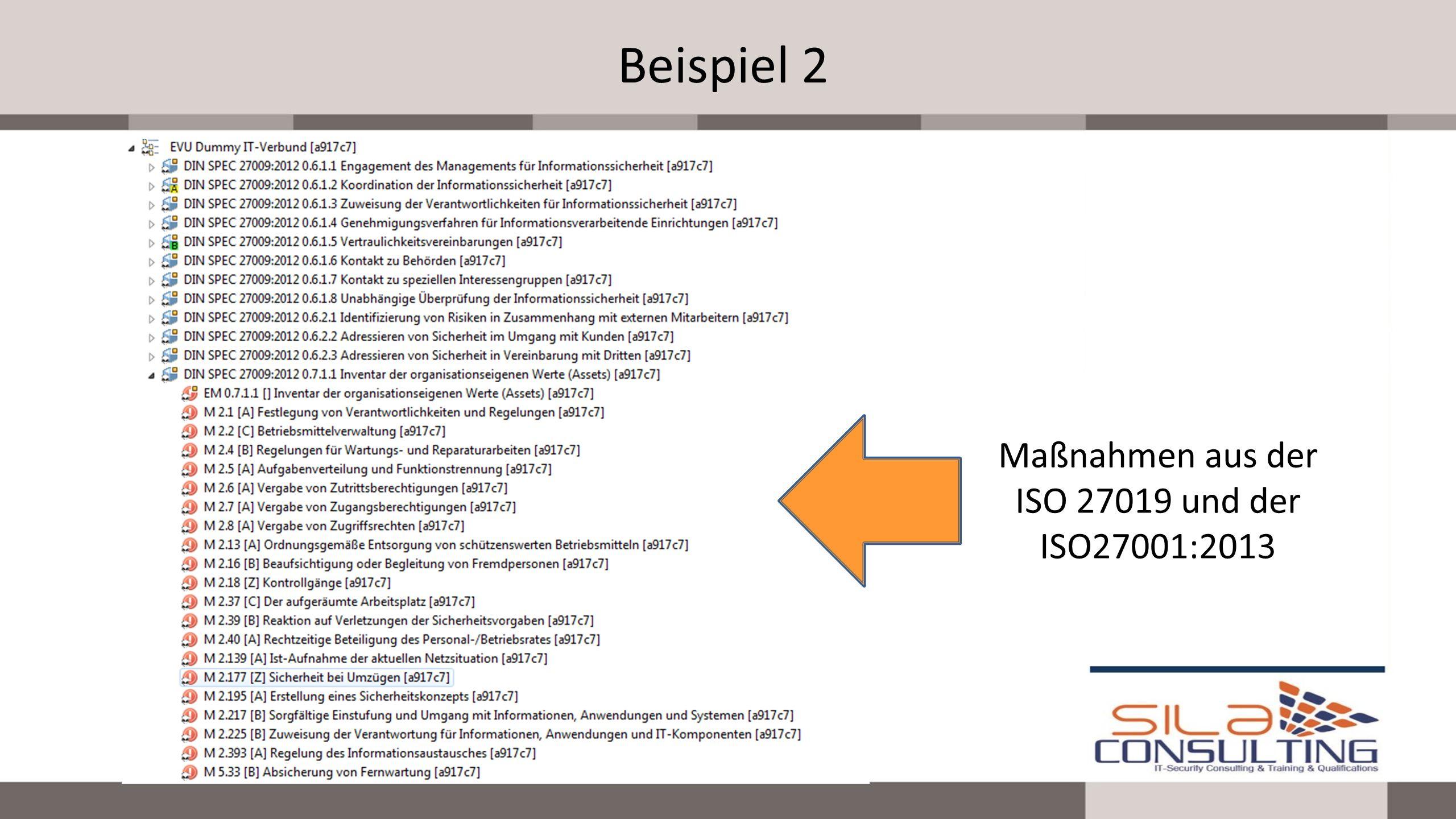 Maßnahmen aus der ISO 27019 und der ISO27001:2013