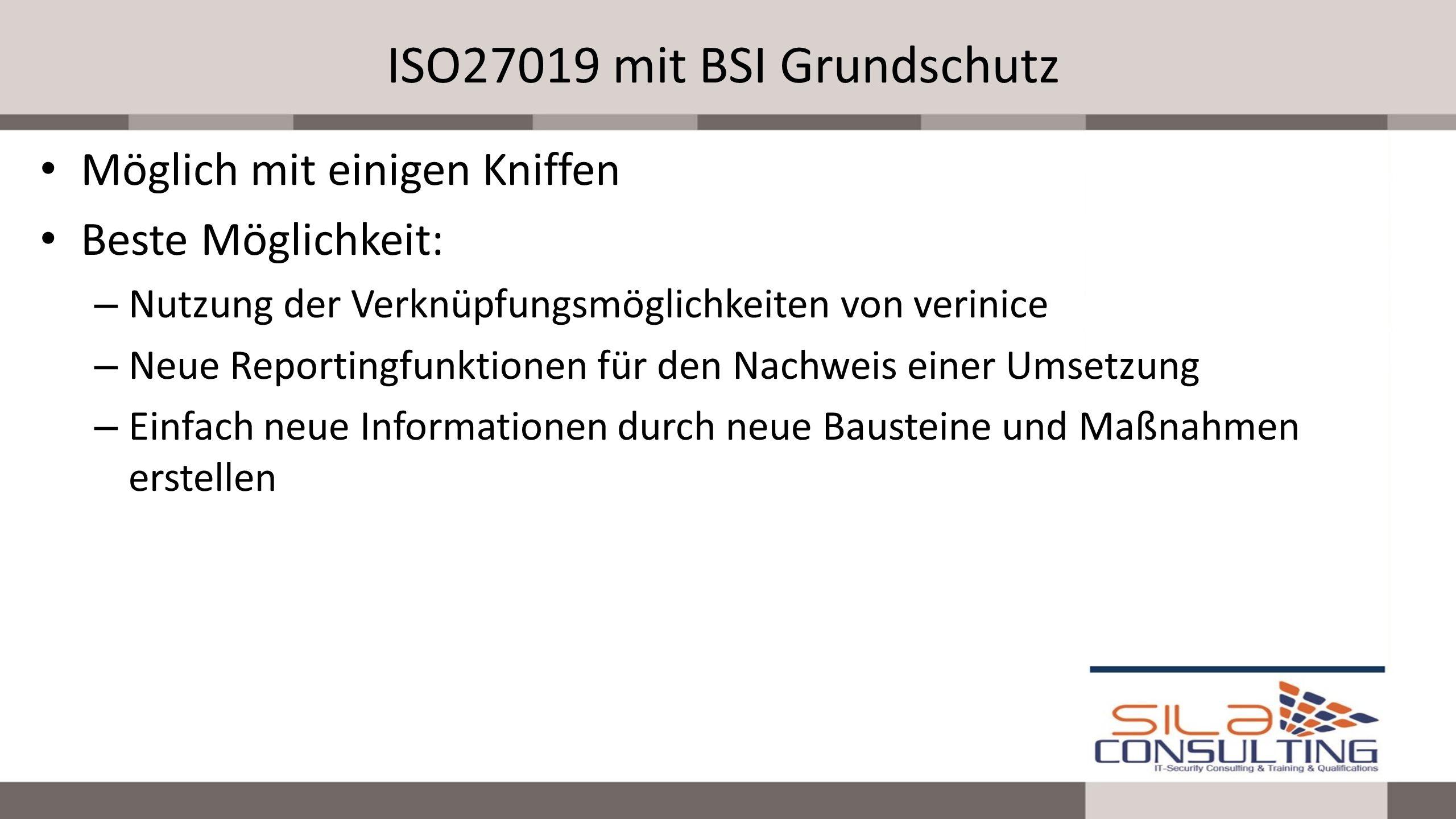ISO27019 mit BSI Grundschutz