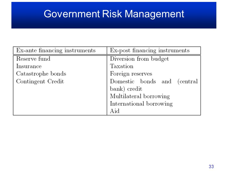 Government Risk Management