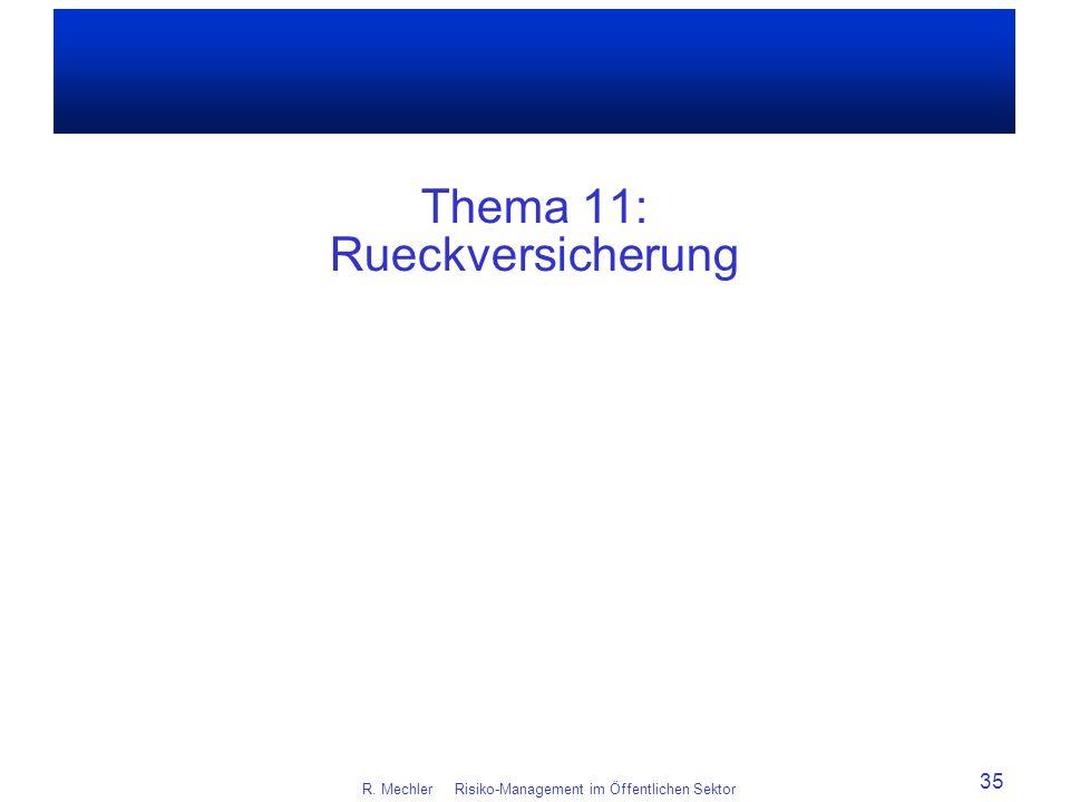 Thema 11: Rueckversicherung
