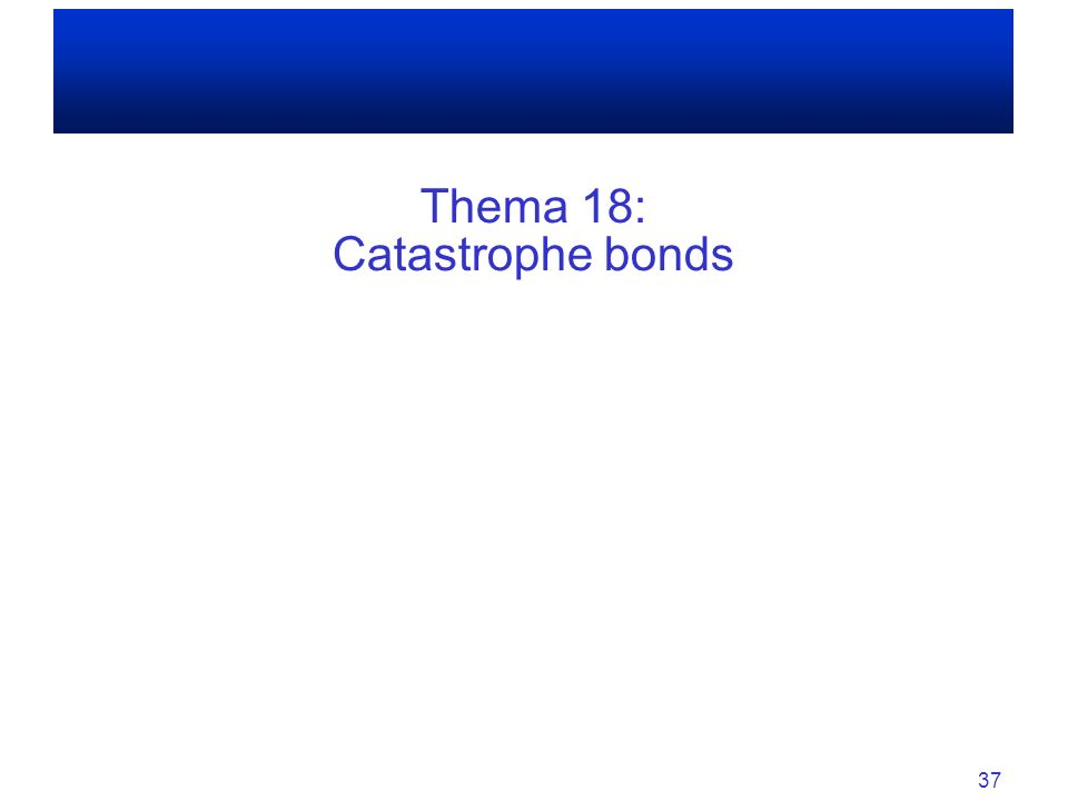 Thema 18: Catastrophe bonds
