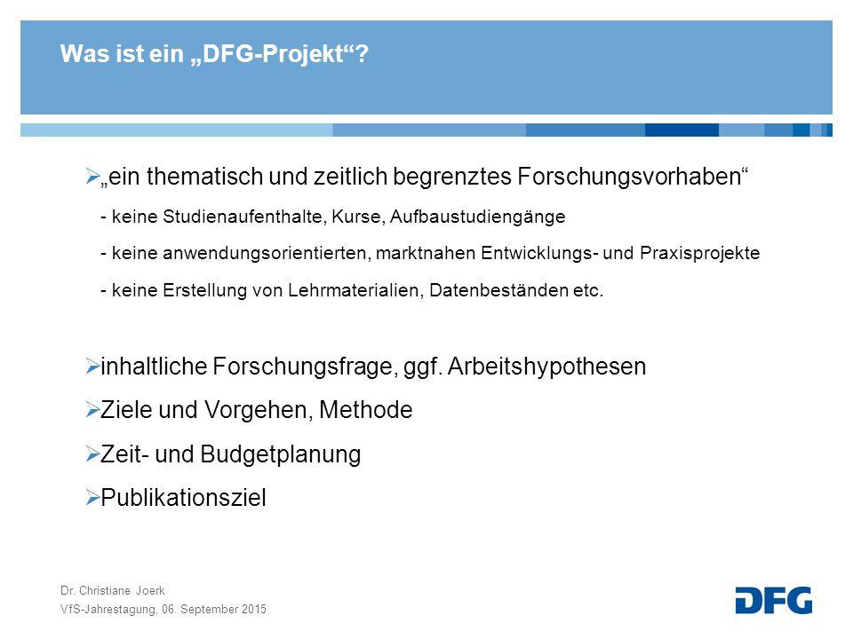 """Was ist ein """"DFG-Projekt"""