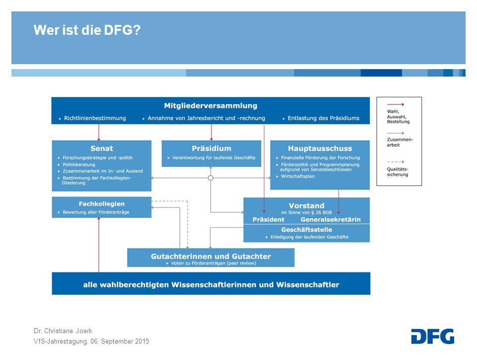 Wer ist die DFG Dr. Christiane Joerk