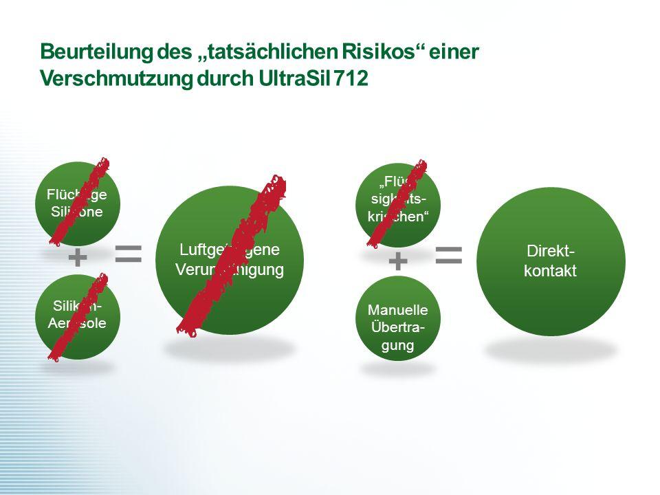 """Beurteilung des """"tatsächlichen Risikos einer Verschmutzung durch UltraSil 712"""