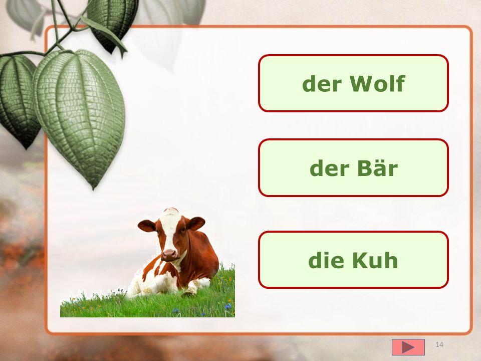 der Wolf der Bär die Kuh далее