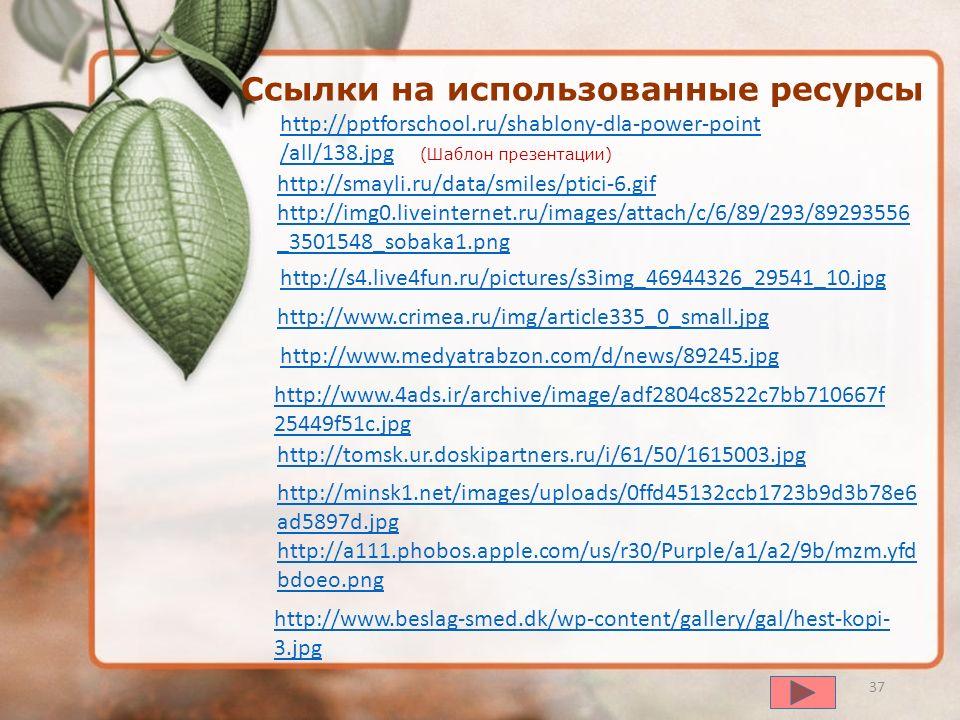 Ссылки на использованные ресурсы