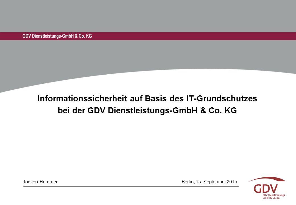 Vorstellung der GDV Dienstleistungs-GmbH (GDV-DL)