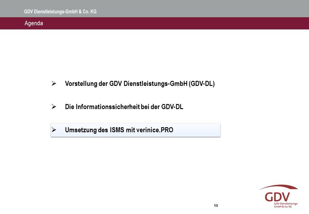 Die GDV-DL setzt verinice.PRO als ISMS-Tool ein.