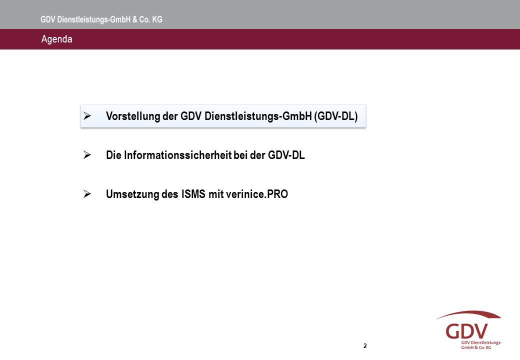 Vorstellung der GDV Dienstleistungs-GmbH & Co. KG