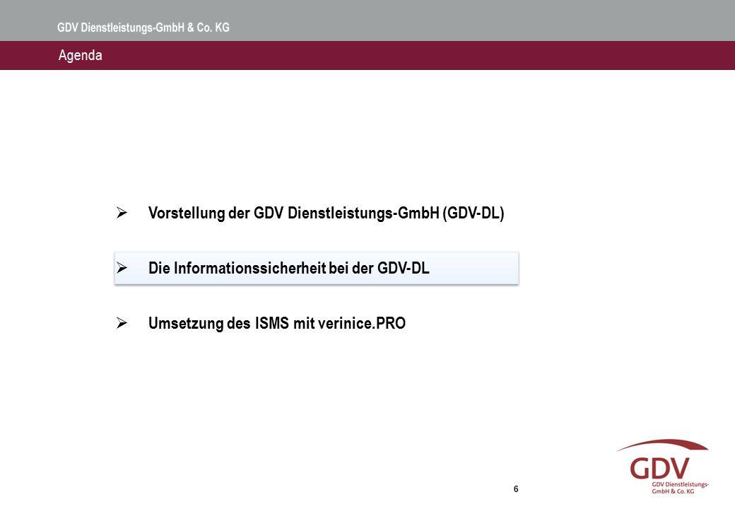Die Informationssicherheit bei der GDV-DL