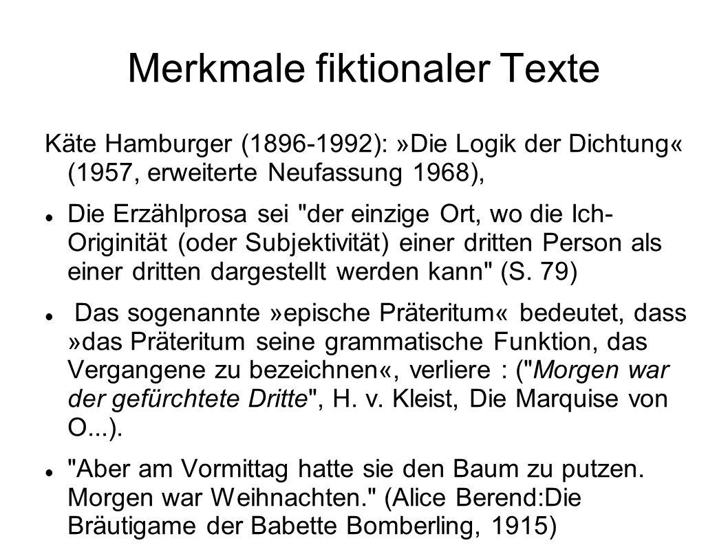 Merkmale fiktionaler Texte