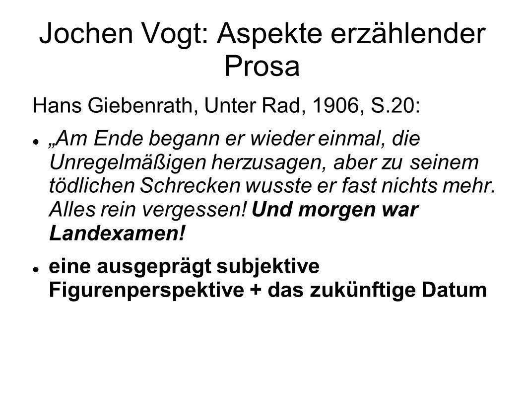 Jochen Vogt: Aspekte erzählender Prosa