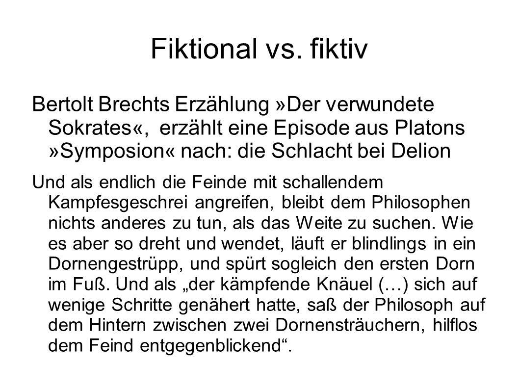 Fiktional vs. fiktiv