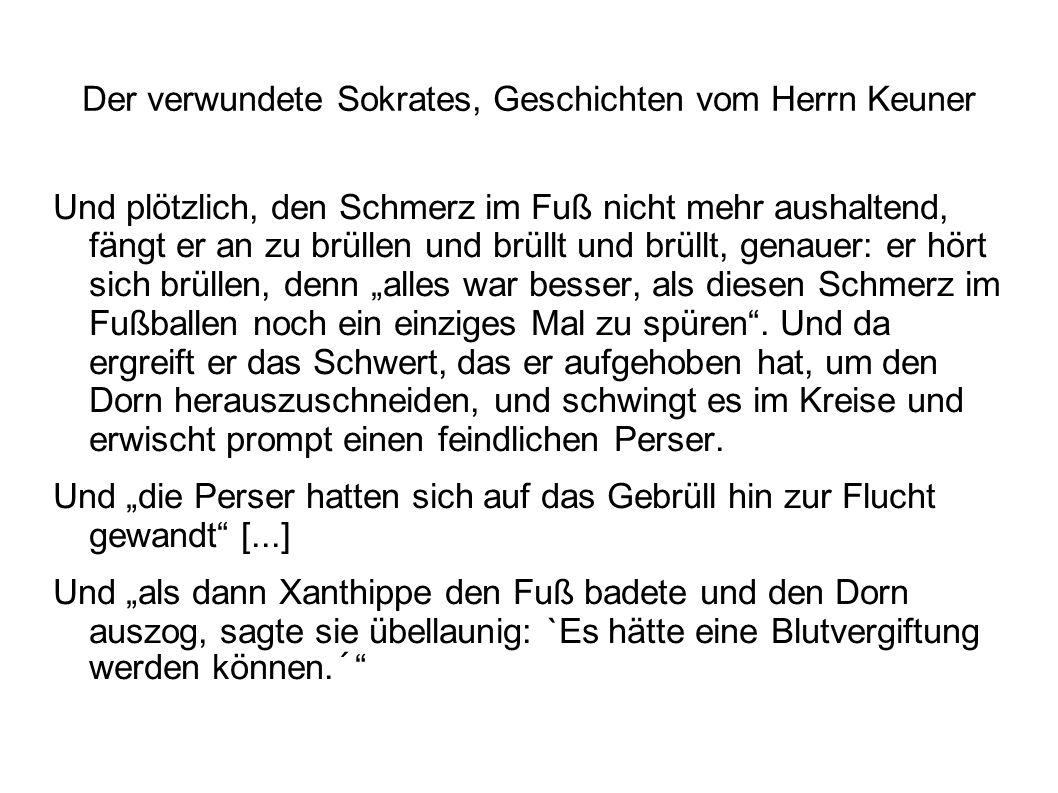 Der verwundete Sokrates, Geschichten vom Herrn Keuner