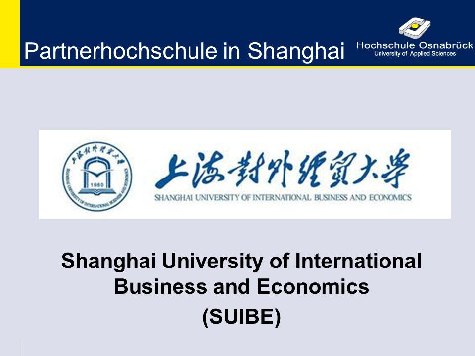 Partnerhochschule in Shanghai