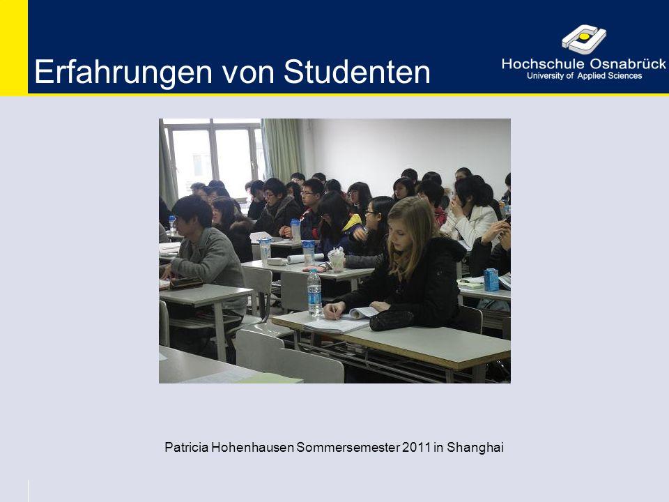 Erfahrungen von Studenten