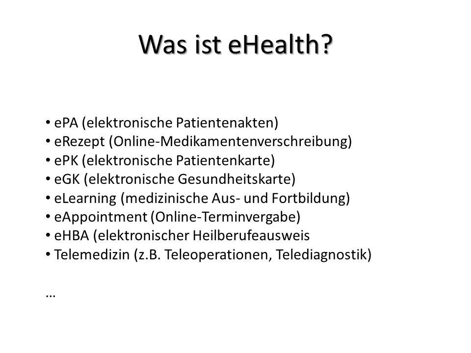 Was ist eHealth ePA (elektronische Patientenakten)