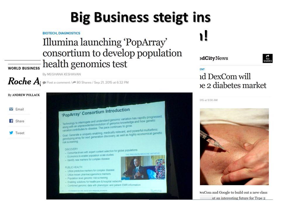 Big Business steigt ins Medizingeschäft ein!