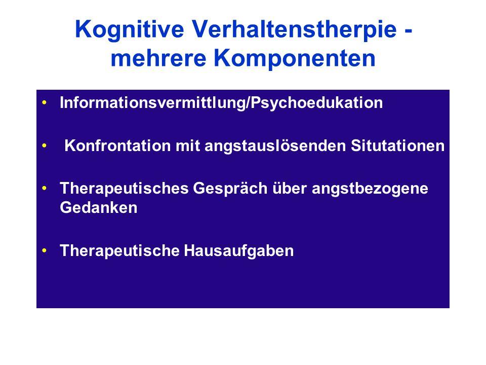 Kognitive Verhaltenstherpie - mehrere Komponenten