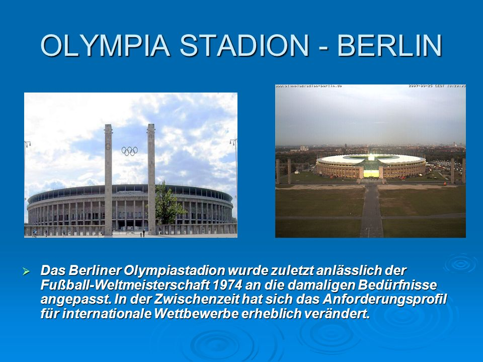OLYMPIA STADION - BERLIN