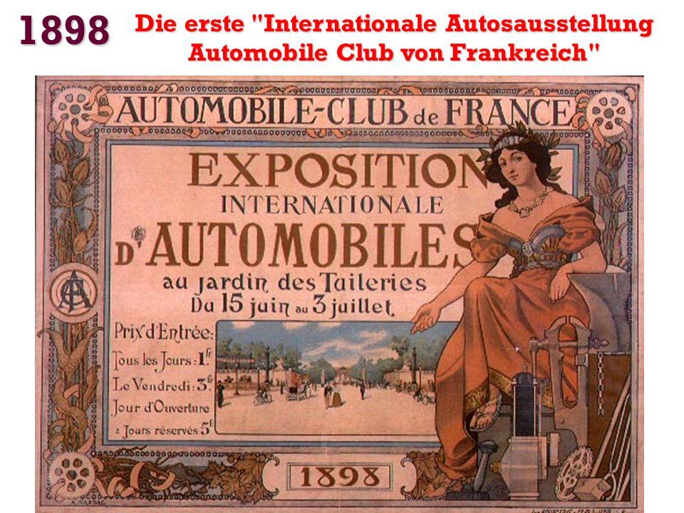 1898 Die erste Internationale Autosausstellung Automobile Club von Frankreich