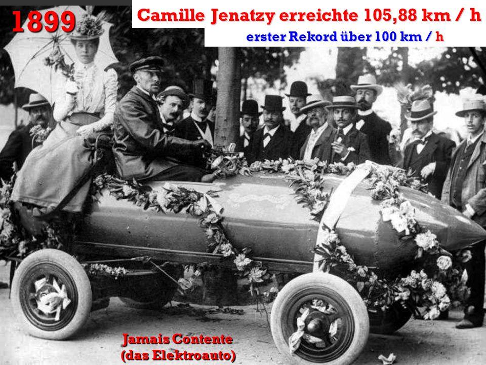 1899 Camille Jenatzy erreichte 105,88 km / h