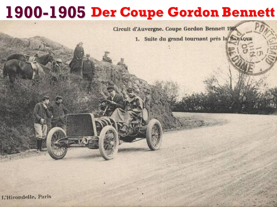 1900-1905 Der Coupe Gordon Bennett