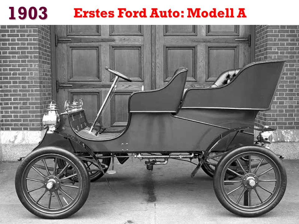 1903 Erstes Ford Auto: Modell A