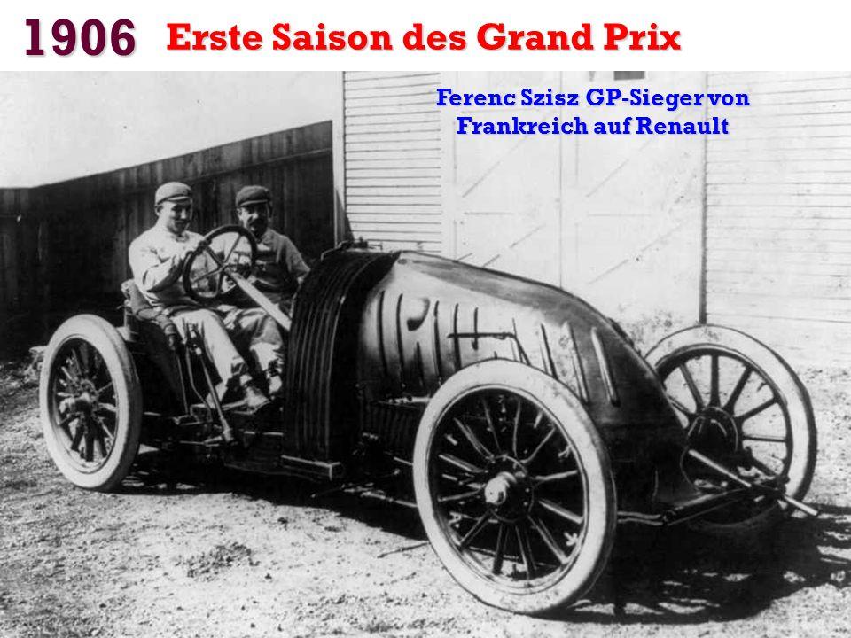 Ferenc Szisz GP-Sieger von Frankreich auf Renault