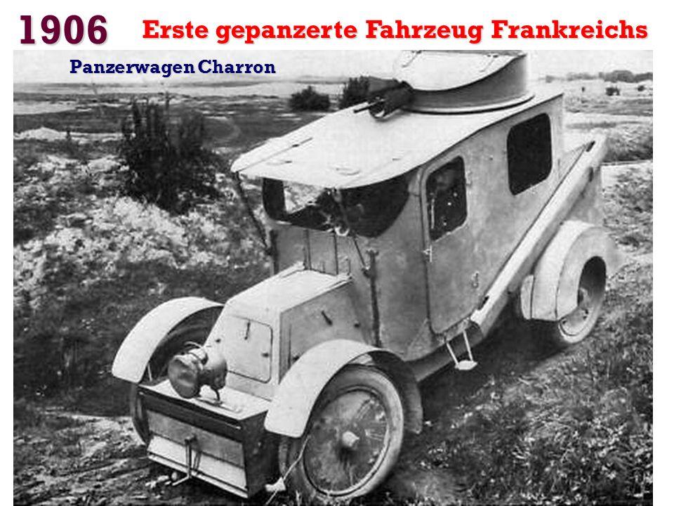 1906 Erste gepanzerte Fahrzeug Frankreichs Panzerwagen Charron