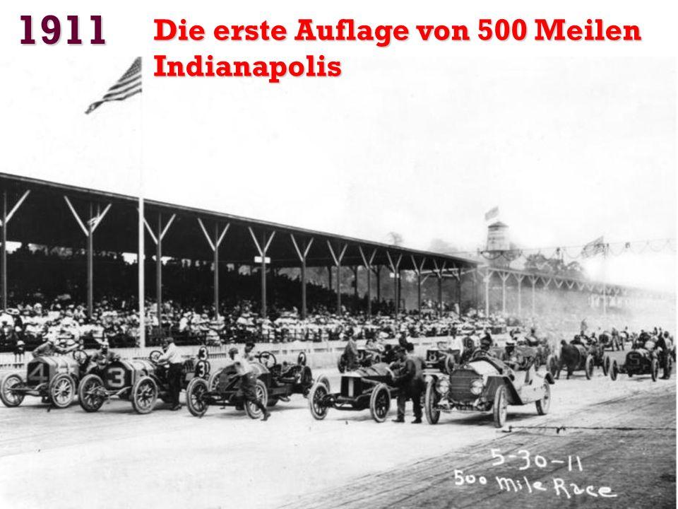 1911 Die erste Auflage von 500 Meilen Indianapolis