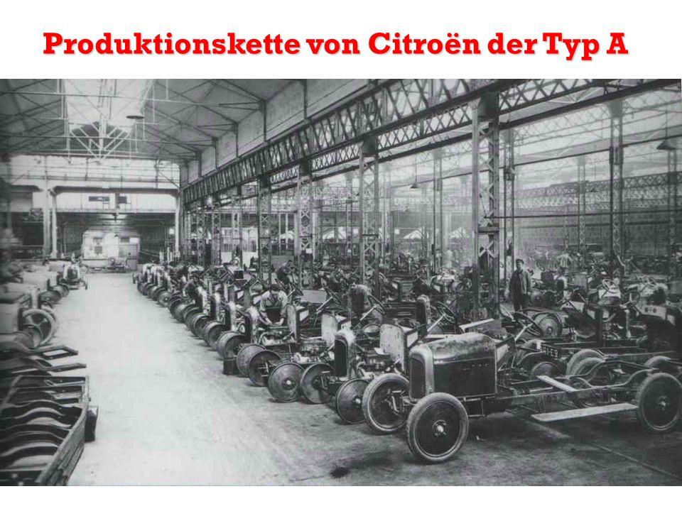 Produktionskette von Citroën der Typ A