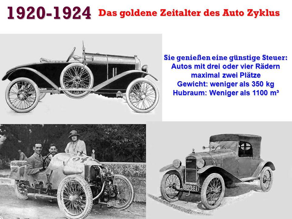1920-1924 Das goldene Zeitalter des Auto Zyklus