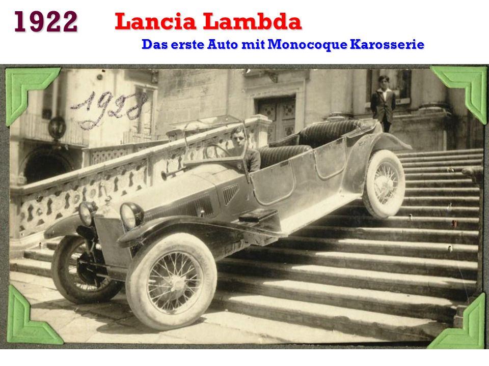 Das erste Auto mit Monocoque Karosserie