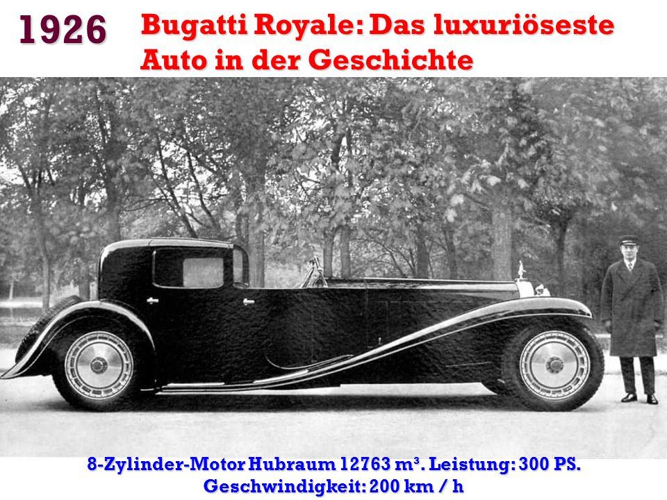 1926 Bugatti Royale: Das luxuriöseste Auto in der Geschichte