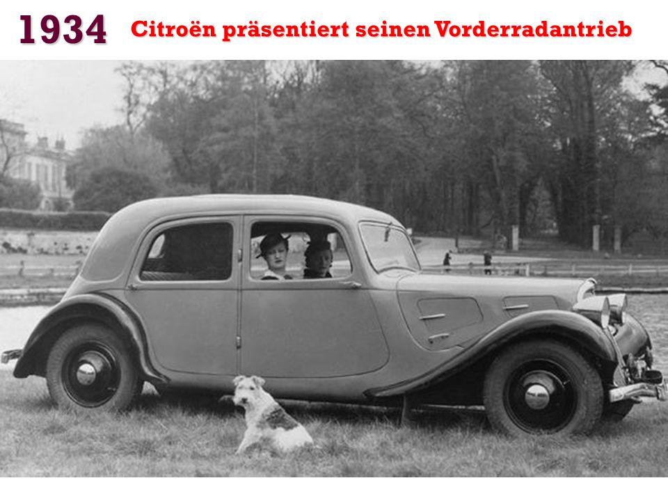 1934 Citroën präsentiert seinen Vorderradantrieb