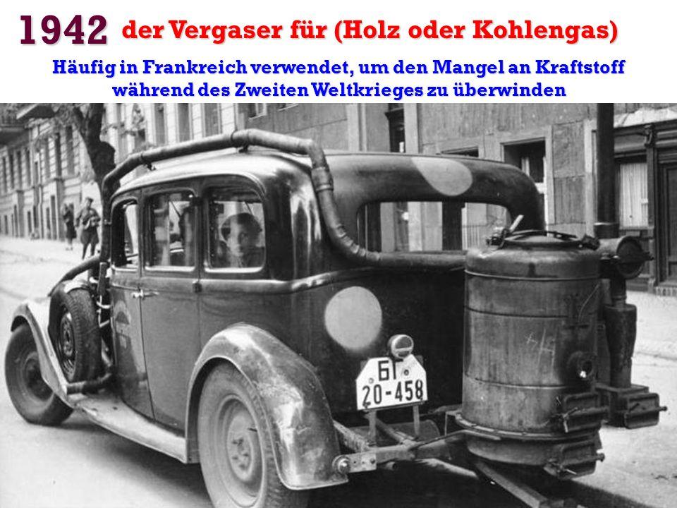1942 der Vergaser für (Holz oder Kohlengas)