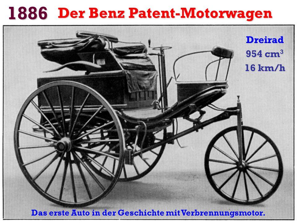 Das erste Auto in der Geschichte mit Verbrennungsmotor.